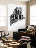 Maine Word Cloud 2 Wall Mural by  NaxArt