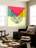Party Cat Wall Mural by Lisa Kroll