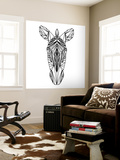 Zebra on White Wall Mural by Lisa Kroll