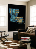 Louisiana Word Cloud 1 Wall Mural by  NaxArt