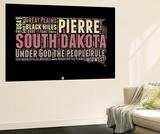 South Dakota Word Cloud 2 Wall Mural by  NaxArt