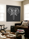 Elephant Polygon Wall Mural by Lisa Kroll