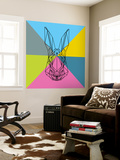 Party Rabbit Wall Mural by Lisa Kroll
