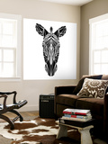 Black Zebra Wall Mural by Lisa Kroll