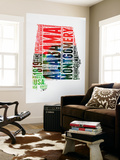 Alabama Watercolor Word Cloud Wall Mural by  NaxArt