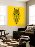 Horse Head Yellow Mesh Wall Mural by Lisa Kroll