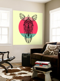Zebra and Sunset Wall Mural by Lisa Kroll