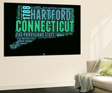 Connecticut Word Cloud 1 Wall Mural by  NaxArt