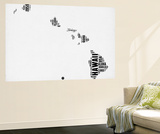 Hawaii Word Cloud 2 Wall Mural by  NaxArt