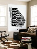 Georgia Word Cloud 2 Wall Mural by  NaxArt