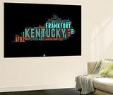 Kentucky Word Cloud 1 Wall Mural by  NaxArt
