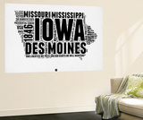 Iowa Word Cloud 2 Wall Mural by  NaxArt