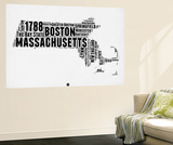 Massachusetts Word Cloud 2 Wall Mural by  NaxArt