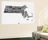 Massachusetts Word Cloud 2 Wall Mural by  NaxArt