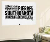 South Dakota Word Cloud 1 Wall Mural by  NaxArt