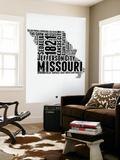 Missouri Word Cloud 2 Wall Mural by  NaxArt