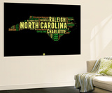North Carolina Word Cloud 1 Wall Mural by  NaxArt
