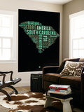 South Carolina Word Cloud 2 Wall Mural by  NaxArt