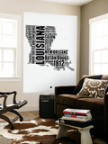 Louisiana Word Cloud 2 Wall Mural by  NaxArt