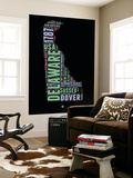Delaware Word Cloud 1 Wall Mural by  NaxArt