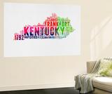 Kentucky Watercolor Word Cloud Wall Mural by  NaxArt