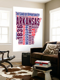 Arkansas Word Cloud Map Wall Mural by  NaxArt