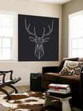Deer Polygon Wall Mural by Lisa Kroll