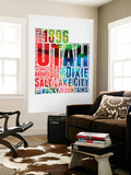 Utah Watercolor Word Cloud Wall Mural by  NaxArt