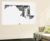 Maryland Word Cloud 2 Wall Mural by  NaxArt