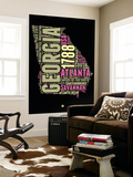 Georgia Word Cloud 1 Wall Mural by  NaxArt