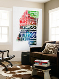 Mississippi Watercolor Word Cloud Wall Mural by  NaxArt