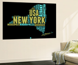 New York Word Cloud 1 Wall Mural by  NaxArt