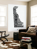 Delaware Word Cloud 2 Wall Mural by  NaxArt