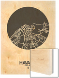 Havana Street Map Black on White Posters by  NaxArt