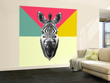 Party Zebra Head Wall Mural – Large by  NaxArt