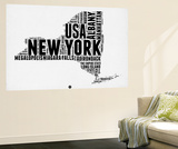 New York Word Cloud 2 Wall Mural by  NaxArt