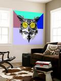 Owl in Yellow Glasses Wall Mural by Lisa Kroll