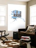 Alaska Word Cloud Map Wall Mural by  NaxArt