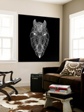 Horse Head Black Mesh Wall Mural by Lisa Kroll