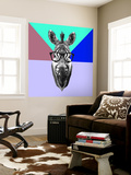 Party Zebra in Glasses Wall Mural by Lisa Kroll