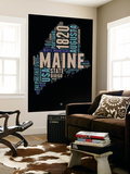 Maine Word Cloud 1 Wall Mural by  NaxArt