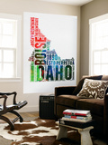Idaho Watercolor Word Cloud Wall Mural by  NaxArt
