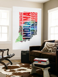 Indiana Watercolor Word Cloud Wall Mural by  NaxArt
