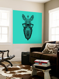 Zebra in Glasses Wall Mural by Lisa Kroll