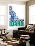 Idaho Word Cloud Map Wall Mural by  NaxArt