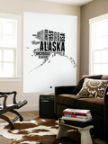 Alaska Word Cloud 2 Wall Mural by  NaxArt