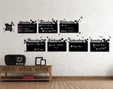 Home Diary Chalkboard Autocollant