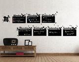 Home Diary Chalkboard - Duvar Çıkartması