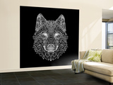 Black Woolf Wall Mural – Large by Lisa Kroll