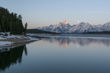 The Moon Above the Grand Tetons at Sunrise Photographic Print by Barrett Hedges